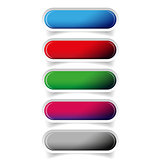 Colorful glossy web bar button vector