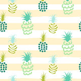 Abstract pineapple pastel colors striped pattern.