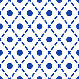 Geometric blue and white minimalistic pattern.