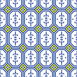 Ceramic tiles mediterranean seamless pattern.