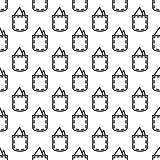 Pocket square gentleman seamless pattern.