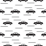 Car cute baby vector scandinavian seamless pattern.