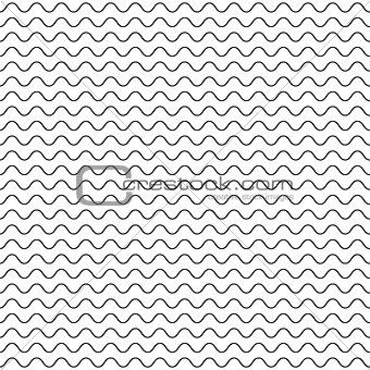 Black fine wavy line pattern black and white.