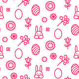 Easter outline icon seamless vector pattern.