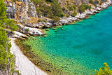 Scenic beach of Brac island