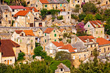 Dtone vilage Lozisca on Brac island view