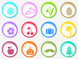 Vector calendar circle month symbols