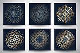 Decorative mandala style backgrounds