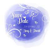 Save the date floral watercolour design
