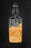 Poster whiskey best choice color