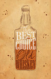 Poster whiskey best choice craft