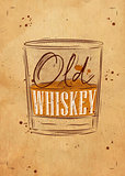 Poster old whiskey craft