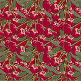 Vintage Cherry Seamless Pattern