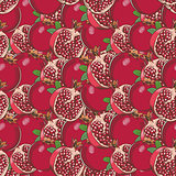 Vintage Pomegranate Seamless Pattern