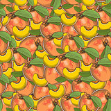 Vintage Peach Seamless Pattern