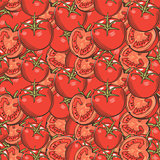Vintage Red Tomatoes Seamless Pattern