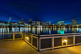 Portland Skyline from Eastbank Esplanade at Night