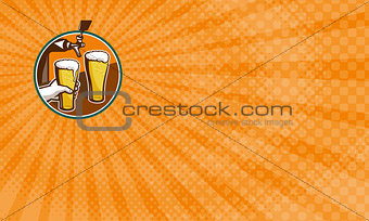 Watering Hole Brewery Business card