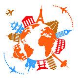 World's famous travel landmarks
