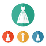 Woman dress icons