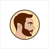 Man with beard icon