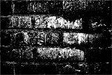 Grunge retro texture of the brick wall. Vector illustration