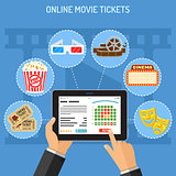 online cinema ticket order concept