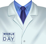 7 april World Health Day. White doctors coat