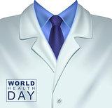 7 april World Health Day. White doctors coat