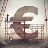 Strengthen euro economy . 3D Rendering