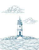 Tokarevskiy lighthouse in Vladivostok.