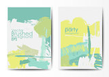 Grunge brushed vector postcards template