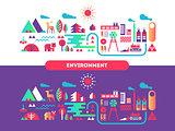 Environment design flat concept