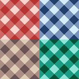 Set checkered seamless diagonal background