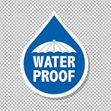 Water Drop Label
