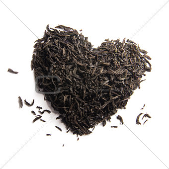black tea heart
