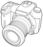 photo camera vector draw