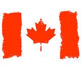 Threadbare flag of Canada