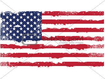 Threadbare flag of United States of America
