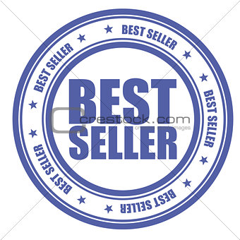 Blue stamp with words Bestseller