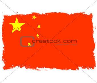 Threadbare flag of China