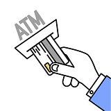 Insert Card ATM