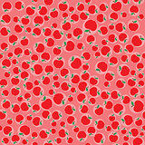 Apples red seamless pattern background