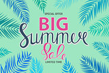 Big Summer Sale Abstract Background Vector Illustration