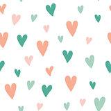 seamless pattern heart pink blue