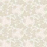 Floral vintage rustic seamless pattern
