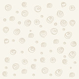 Seamless pattern. Casual polka dot texture. Stylish doodle