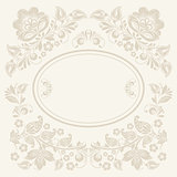 background of floral pattern with traditional russian flower ornament.