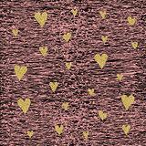 Gold glittering heart seamless pattern