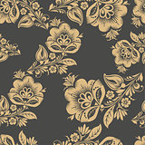Romantic seamless floral pattern.